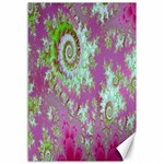 Raspberry Lime Surprise, Abstract Sea Garden  Canvas 12  x 18  (Unframed) 18 x12 Canvas - 1