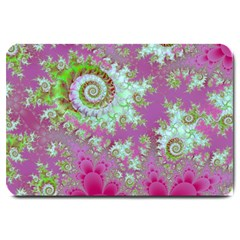 Raspberry Lime Surprise, Abstract Sea Garden  Large Door Mat by DianeClancy