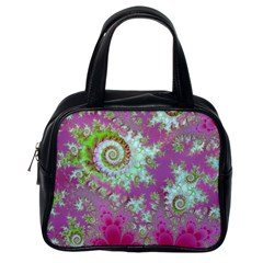 Raspberry Lime Surprise, Abstract Sea Garden  Classic Handbag (one Side) by DianeClancy