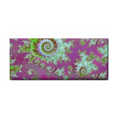 Raspberry Lime Surprise, Abstract Sea Garden  Hand Towel by DianeClancy