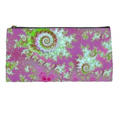 Raspberry Lime Surprise, Abstract Sea Garden  Pencil Case by DianeClancy