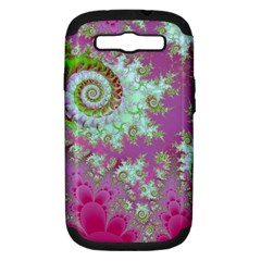 Raspberry Lime Surprise, Abstract Sea Garden  Samsung Galaxy S Iii Hardshell Case (pc+silicone) by DianeClancy