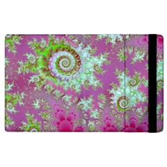 Raspberry Lime Surprise, Abstract Sea Garden  Apple Ipad 3/4 Flip Case by DianeClancy