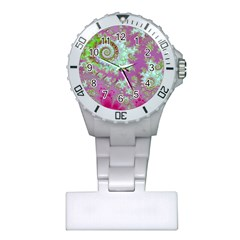 Raspberry Lime Surprise, Abstract Sea Garden  Nurses Watch by DianeClancy