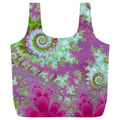 Raspberry Lime Surprise, Abstract Sea Garden  Reusable Bag (xl) by DianeClancy