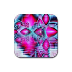 Ruby Red Crystal Palace, Abstract Jewels Drink Coaster (square) by DianeClancy