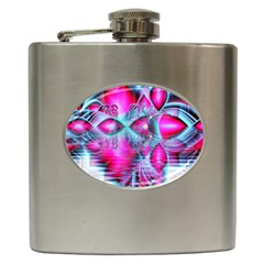 Ruby Red Crystal Palace, Abstract Jewels Hip Flask by DianeClancy