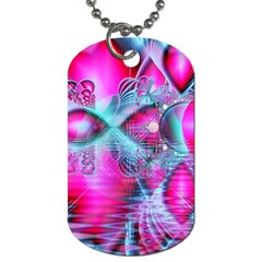 Ruby Red Crystal Palace, Abstract Jewels Dog Tag (two Sided)  by DianeClancy