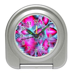 Ruby Red Crystal Palace, Abstract Jewels Desk Alarm Clock
