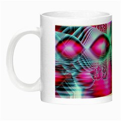 Ruby Red Crystal Palace, Abstract Jewels Glow In The Dark Mug by DianeClancy