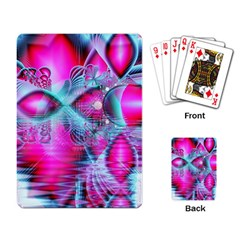 Ruby Red Crystal Palace, Abstract Jewels Playing Cards Single Design by DianeClancy