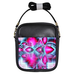 Ruby Red Crystal Palace, Abstract Jewels Girl s Sling Bag