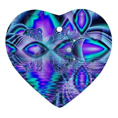 Peacock Crystal Palace Of Dreams, Abstract Heart Ornament by DianeClancy