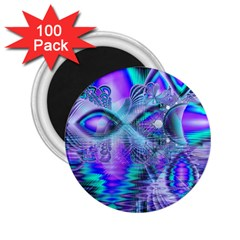 Peacock Crystal Palace Of Dreams, Abstract 2 25  Button Magnet (100 Pack)