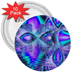 Peacock Crystal Palace Of Dreams, Abstract 3  Button (10 Pack) by DianeClancy