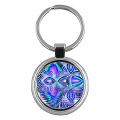 Peacock Crystal Palace Of Dreams, Abstract Key Chain (round) by DianeClancy
