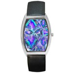 Peacock Crystal Palace Of Dreams, Abstract Tonneau Leather Watch Front