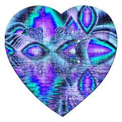 Peacock Crystal Palace Of Dreams, Abstract Jigsaw Puzzle (heart) by DianeClancy