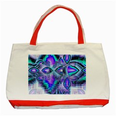 Peacock Crystal Palace Of Dreams, Abstract Classic Tote Bag (red) by DianeClancy