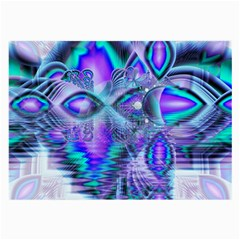 Peacock Crystal Palace Of Dreams, Abstract Glasses Cloth (large)