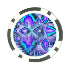 Peacock Crystal Palace Of Dreams, Abstract Poker Chip by DianeClancy