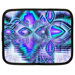 Peacock Crystal Palace Of Dreams, Abstract Netbook Sleeve (large) by DianeClancy