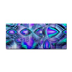 Peacock Crystal Palace Of Dreams, Abstract Hand Towel by DianeClancy