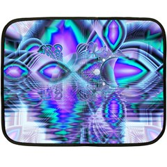Peacock Crystal Palace Of Dreams, Abstract Mini Fleece Blanket (two Sided) by DianeClancy