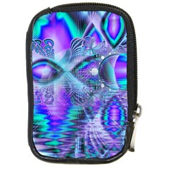 Peacock Crystal Palace Of Dreams, Abstract Compact Camera Leather Case by DianeClancy