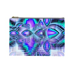 Peacock Crystal Palace Of Dreams, Abstract Cosmetic Bag (large) by DianeClancy
