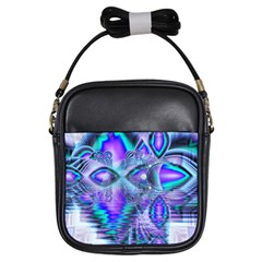 Peacock Crystal Palace Of Dreams, Abstract Girl s Sling Bag by DianeClancy