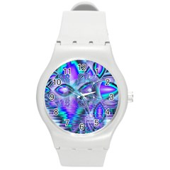 Peacock Crystal Palace Of Dreams, Abstract Plastic Sport Watch (medium)