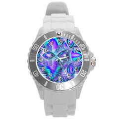 Peacock Crystal Palace Of Dreams, Abstract Plastic Sport Watch (large) by DianeClancy