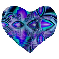 Peacock Crystal Palace Of Dreams, Abstract 19  Premium Heart Shape Cushion by DianeClancy