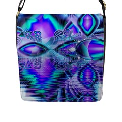 Peacock Crystal Palace Of Dreams, Abstract Flap Closure Messenger Bag (large) by DianeClancy