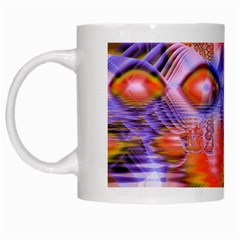 Crystal Star Dance, Abstract Purple Orange White Coffee Mug