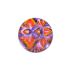 Crystal Star Dance, Abstract Purple Orange Golf Ball Marker 10 Pack by DianeClancy