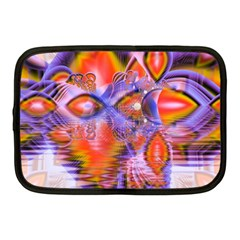 Crystal Star Dance, Abstract Purple Orange Netbook Sleeve (medium) by DianeClancy