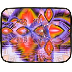 Crystal Star Dance, Abstract Purple Orange Mini Fleece Blanket (two Sided) by DianeClancy