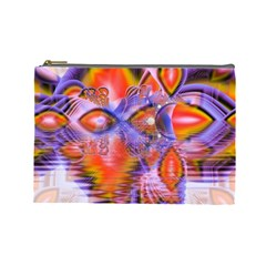 Crystal Star Dance, Abstract Purple Orange Cosmetic Bag (large) by DianeClancy