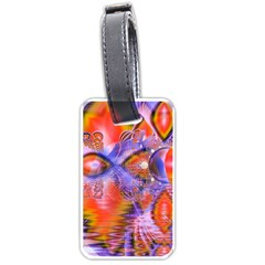 Crystal Star Dance, Abstract Purple Orange Luggage Tag (two Sides) by DianeClancy