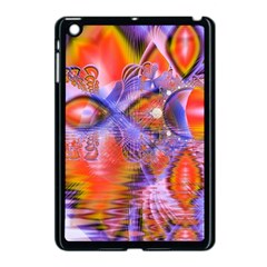 Crystal Star Dance, Abstract Purple Orange Apple Ipad Mini Case (black) by DianeClancy