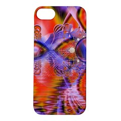 Crystal Star Dance, Abstract Purple Orange Apple Iphone 5s Hardshell Case by DianeClancy