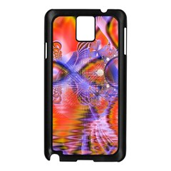 Crystal Star Dance, Abstract Purple Orange Samsung Galaxy Note 3 N9005 Case (black) by DianeClancy