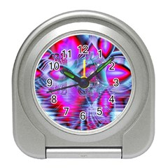 Crystal Northern Lights Palace, Abstract Ice  Desk Alarm Clock by DianeClancy