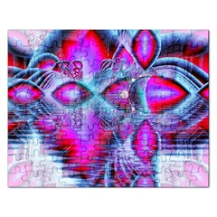 Crystal Northern Lights Palace, Abstract Ice  Jigsaw Puzzle (rectangle) by DianeClancy