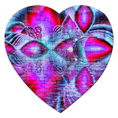 Crystal Northern Lights Palace, Abstract Ice  Jigsaw Puzzle (heart) by DianeClancy
