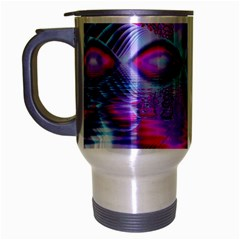 Crystal Northern Lights Palace, Abstract Ice  Travel Mug (silver Gray) by DianeClancy