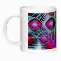 Crystal Northern Lights Palace, Abstract Ice  Glow In The Dark Mug by DianeClancy