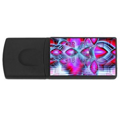 Crystal Northern Lights Palace, Abstract Ice  4gb Usb Flash Drive (rectangle) by DianeClancy